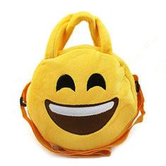Kid Children Emoji Expression Cute Cotton Shoulder Bags Crossbody Bag-US$4.02