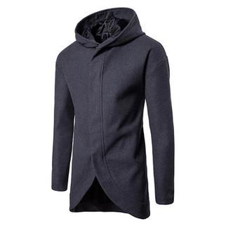 RM134.70-Irregular Hem Mid-long Trench Coats
