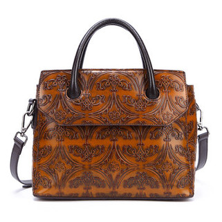 Women Cowhide Genuine Leather Vintage Ha -US$73.82