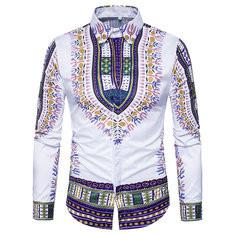 Cotton Traditional Retro 3D Printed Shirt-US$27.99