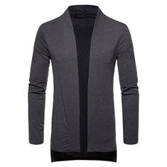 Mid-Long Solid Color Comfortable Cardigan for Men-US$28.91