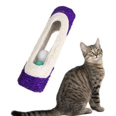 Funny New Pet Cat Toys Rolling Sisal Scratching Post Trapped-US$7.75