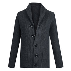 Mens Thicken Knit Breathable Cardigan -US$50.23