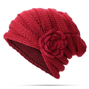 Wool Flowers Knitted Hat -RM39.21