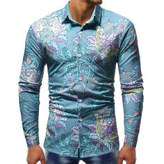 Comfy Print Single Breasted Long Sleeve Suit-US$25.13