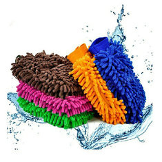 1 piece Car Product Cache Gloves Chenille Wash Mitt Brush Washing Tools -US$6.23