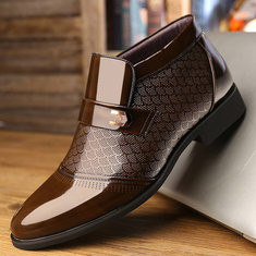 Men Microfiber Leather Business Casual Boots-RM213.55