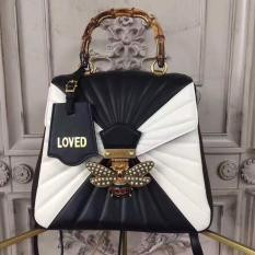 Gucci Queen Margaret Quilted Leather Backpack Black and White RM1,480.00