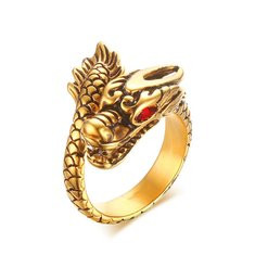 Vintage Dragon Finger Ring-RM101.21