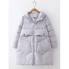 Casual Hooded Down Coat-RM 253.86