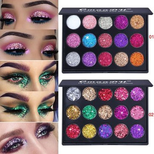 15 Colors Glitter Eyeshadow Palette -RM46.81