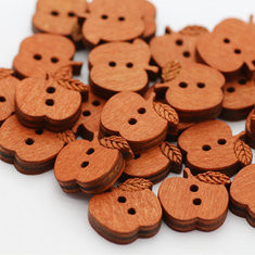 100 Pcs Apple Shape Wooden Buttons-RM75.14