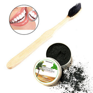 Teeth Whitening Powder With Toothbrush -US$9.32