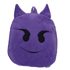 Kindergarten Children Cute Emoji Plush Backpack Cartoon Outdoor Travel School Bag-US$8.30