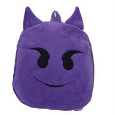 Kindergarten Children Cute Emoji Plush Backpack Cartoon Outdoor Travel School Bag-US$8.30