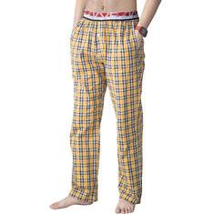 00%Cotton British Plaid Printed Pajamas-US$25.49
