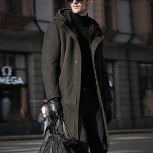 Men's Long Sheepskin Faux Fur  -US$56.59