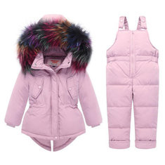 Baby Down Snow Outerwear Set For 0-36M