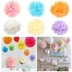 Wedding Partyfestival Decoration Tissue Paper Pompoms Ball-flower-RM12.41
