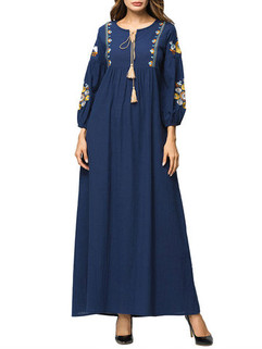 Muslim Tassels Maxi Dress -US$55.00