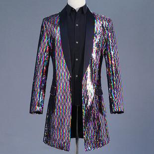 Men's Sequin Classic Casual Dress Suit -US$105.69