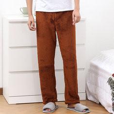 Coral Fleece Thicken Couple Pajama Pants-US$23.99