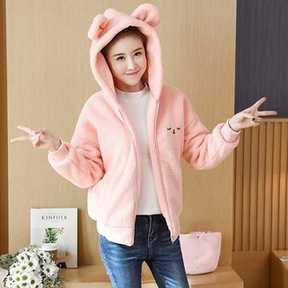 Cotton-padded clothes Ears Lamb Plush thicke-RM176.10