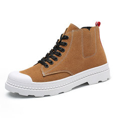 Men Non-slip Soft Sole Casual Leather Boots-RM184.07