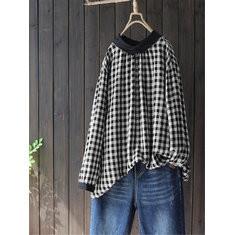 Plaid Long Sleeve Shirt-RM103.13