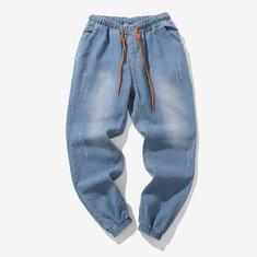 Denim Retro Style Modish Loose Jeans Pants -US$19.31