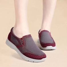 Breathable Mesh Slip On Athletic Shoes-RM166.56
