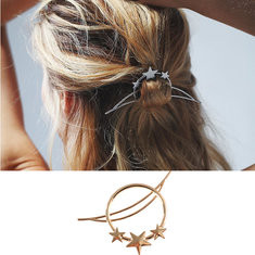 Fashion Moon Star Hairpin-US$6.22