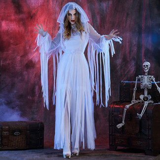 Halloween White Ghosts Dress For Women -US$40.86