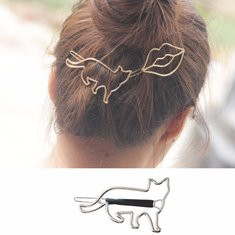 Cute Hollow Mental Hair Clip-US$5.93