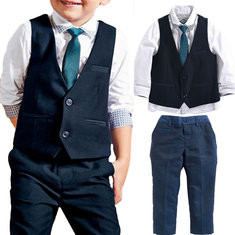 4Pcs Boys Formal Sets For 1Y-9Y-US$34.