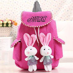 Student Bag Baby Bag Canvas Purse Pendants Cute Rabbit Bag Shoulder Bag Backpack-US$7.06
