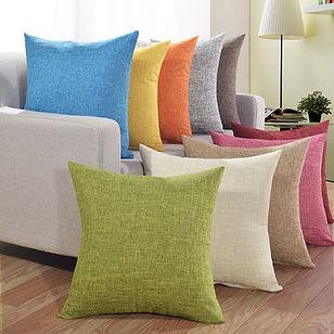 Solid Soft Cotton Linen Pillow Case Waist Cushion Cover Bags Home Car Deco - RM19.35