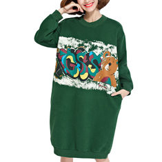 Cartoon Graffiti O-neck Long Sweatshirt-RM158.91