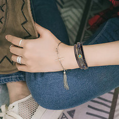 Vintage Leather Bangle Bracelet-RM68.60