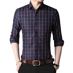 Breathable Business Plaids Printed Shirt-US$19.99