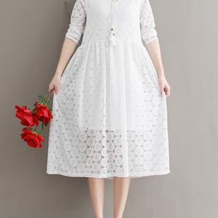 Lace Hollow Women Dresses -US$32.54