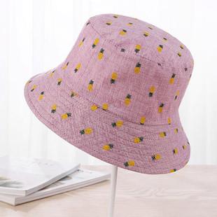 Women Pineapple Printing Sunshade Bucket C-RM41.71