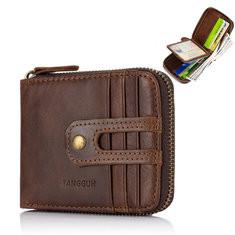 Bifold Vintage Genuine Leather 12 Card Slot Wallet