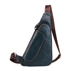 Men Cowhide Genuine Leather Vintage Chest Bag-US$49.83