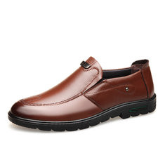 Men Genuine Leather Slip On Casual Shoes-RM178.98