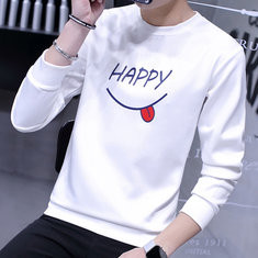 Stylish Printing Loose O-neck Sweatshirt-US$18.19