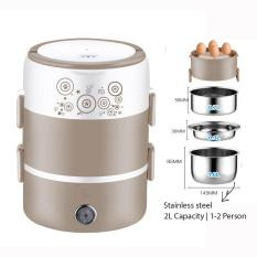 3 Layers Mini Rice Cooker Steamer Multi Cooker Stainless Steel-RM42.00