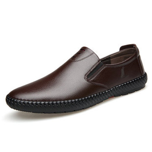 Men Hand Stitching Super Soft Slip On Loafers -US$36.85