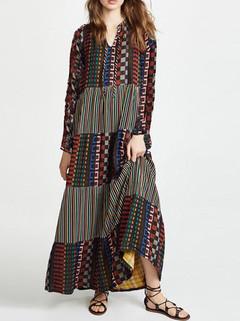 Printed Maxi Dresses -US$44.00