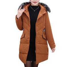 Hooded Down Cotton Coat-RM 341.51